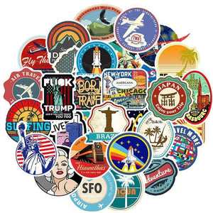 Retro Travel Stickers Pack - CoolSticker