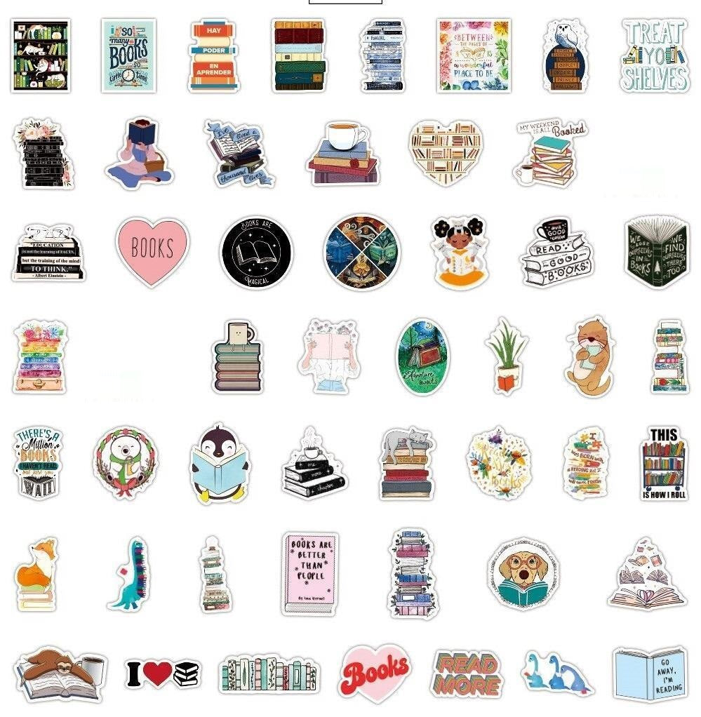 I LOVE BOOK Stickers Pack
