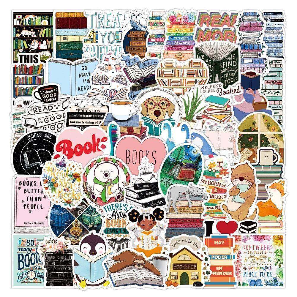 I LOVE BOOK Stickers Pack - CoolSticker