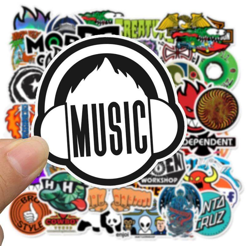 Skateboard Fashion Stickers Pack - CoolSticker