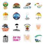 Where We Dropping Quotes Stickers Pack