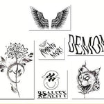Darkness Black Neck Tattoo Stickers (6PCS) - CoolSticker