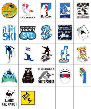 Skiing Stickers Pack