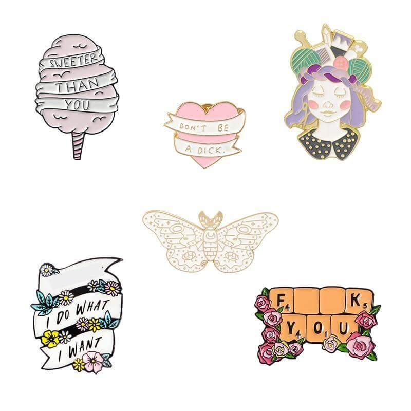 Candy Quotes Enamel Pin Collection