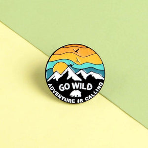GO WILD Enamel Pin - CoolSticker