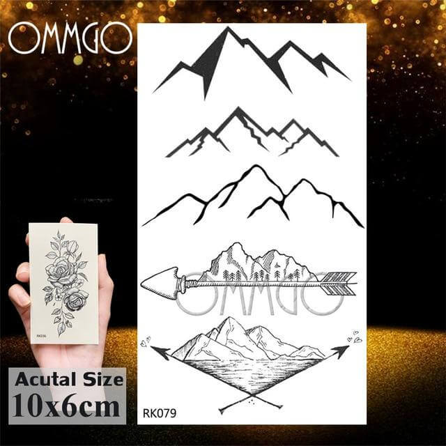 Mountain & Sea Tattoo Stickers (25 Designs) - CoolSticker