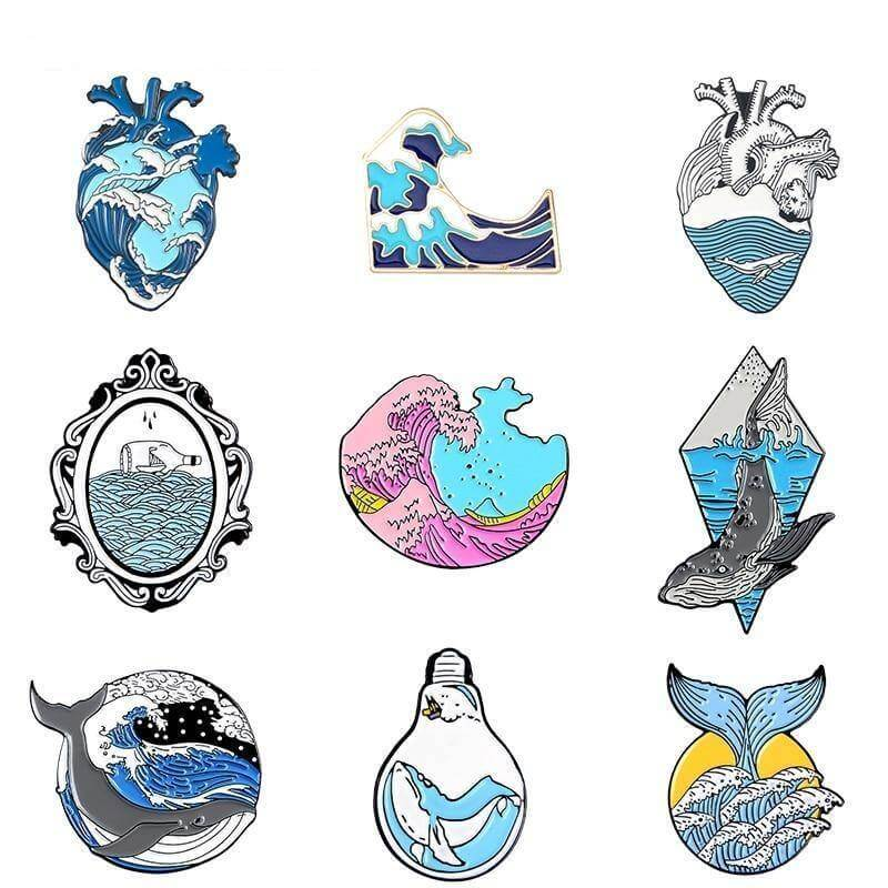 Ocean Style Enamel Pins Collection - CoolSticker