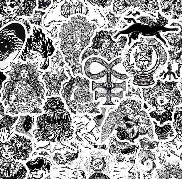 Black Gothic Stickers Pack - CoolSticker