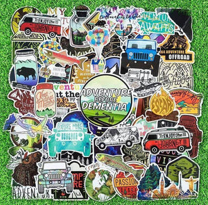 Camping Stickers Pack - CoolSticker
