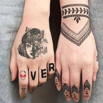 BL Waterproof Tattoo Stickers Pack ( 8 pcs for hand or arm ) - CoolSticker