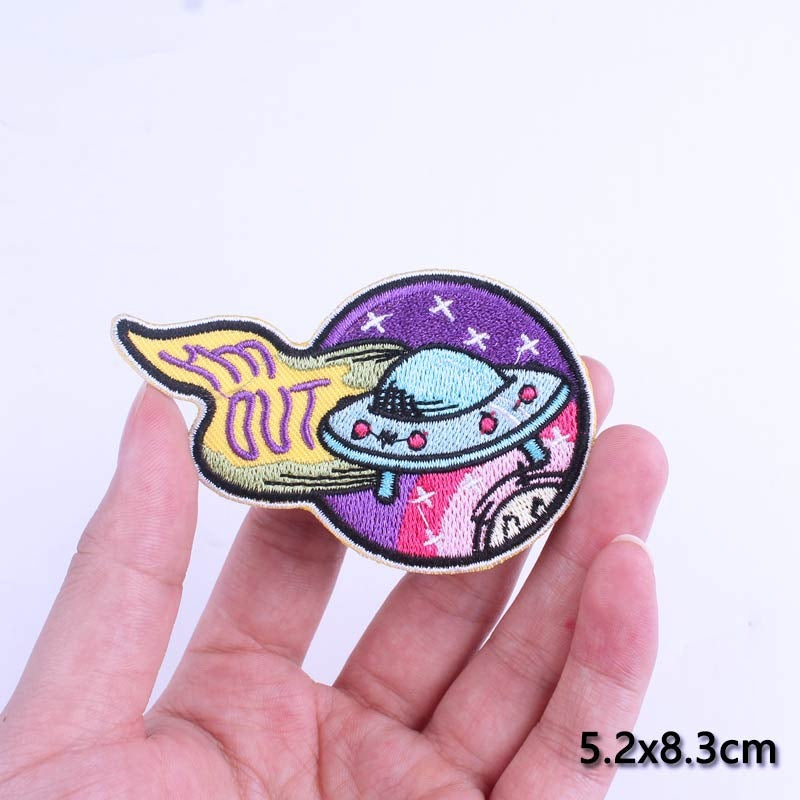 UFO Clothing Iron On Patch - CoolSticker