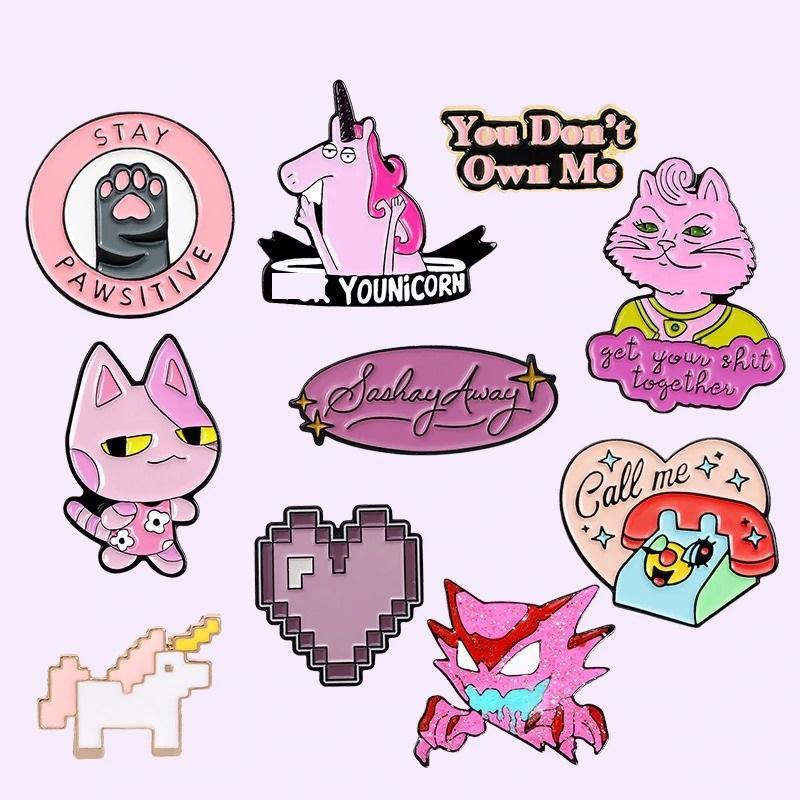 Pink Style  Enamel Pins Collection - CoolSticker