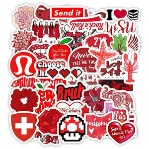 Red Vsco Style Stickers Package Stickers CoolSticker