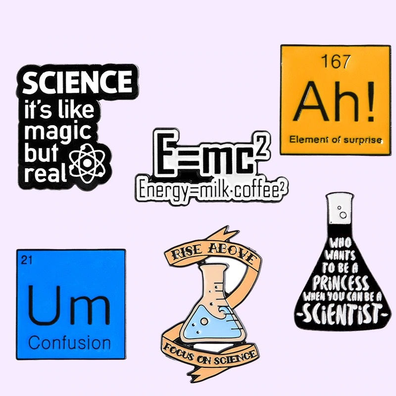 Scientific Energy Enamel Pin Collection (6 Designs) - CoolSticker