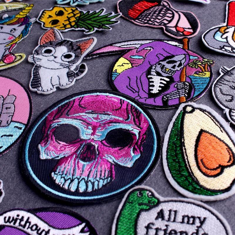 Punk Style Clothing Iron On Patch Collection (15 Designs)