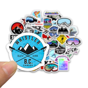 Snow Ski Stickers Package Stickers CoolSticker
