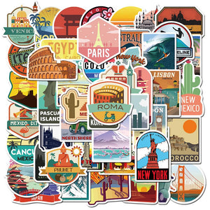 Travel Cities Stickers Package Stickers CoolSticker