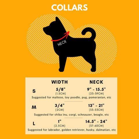 Pup Tribe collar size guide