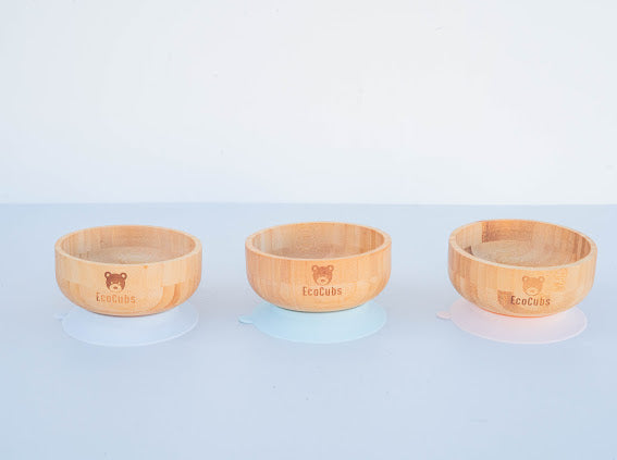 Bamboo Suction Bowl
