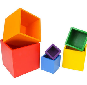 Rainbow Stacking Boxes - Large