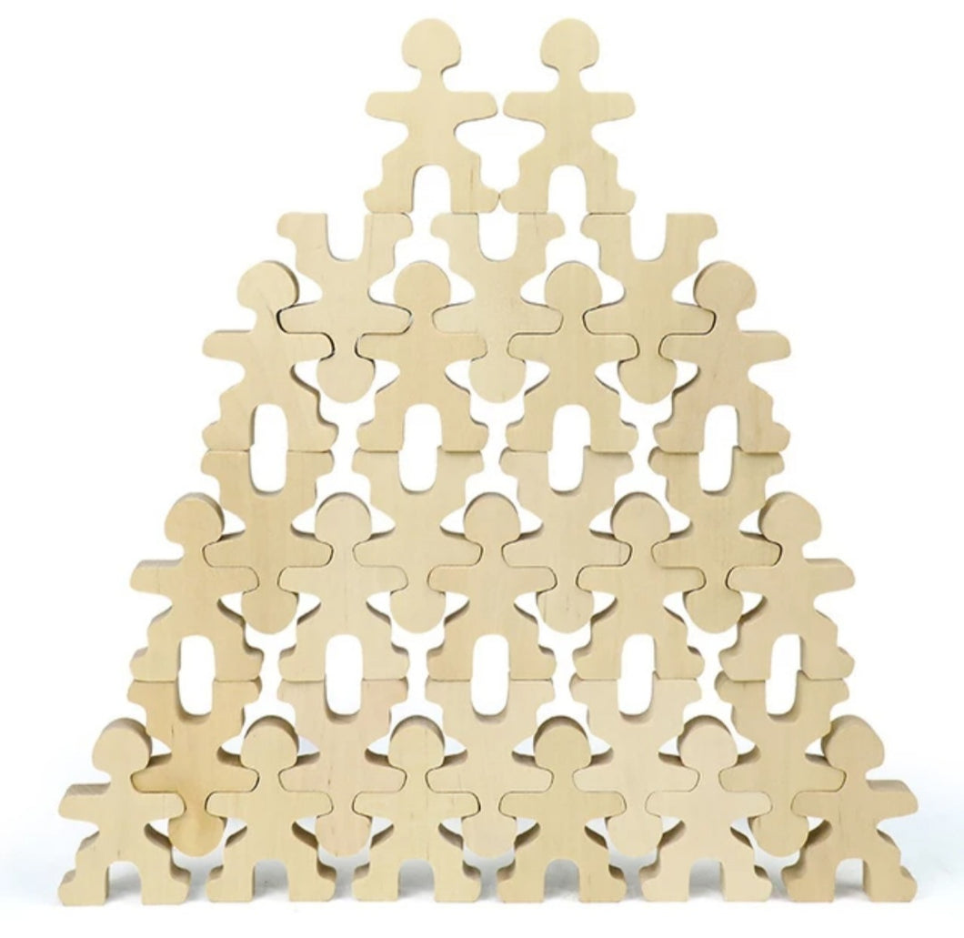 People Wooden Stacking