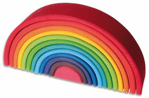 12 piece Wooden Rainbow Stacker - Large