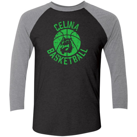 Celina Basketball, Unisex Triblend 3/4 Sleeve T-Shirt