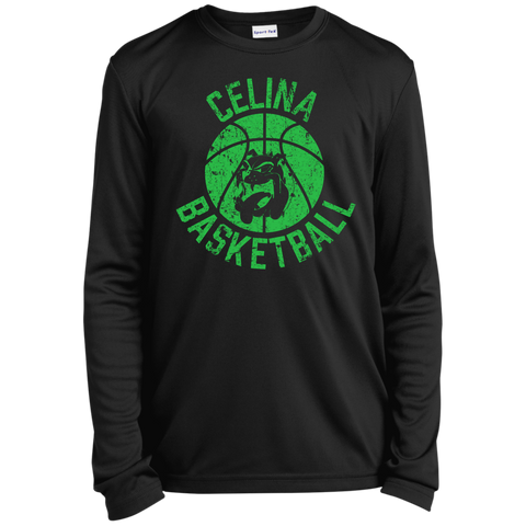 Celina Basketball, Youth Long Sleeve Moisture-Wicking T-Shirt