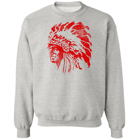 Chief Redskin, Unisex Crewneck Pullover Sweatshirt