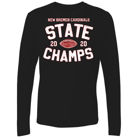 2020 New Bremen Football State Champs, Unisex Long Sleeve T-Shirt