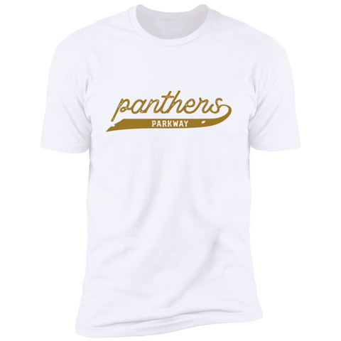 Script Panthers, Unisex Premium Cotton T-Shirt