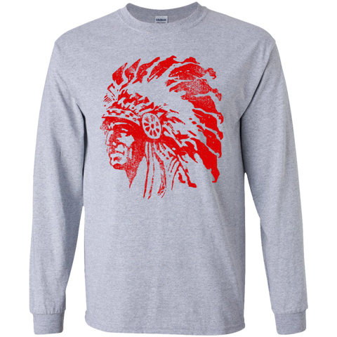 Chief Redskin, Youth Long Sleeve T-Shirt