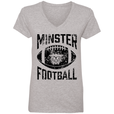 Minster Football, V-Neck T-Shirt