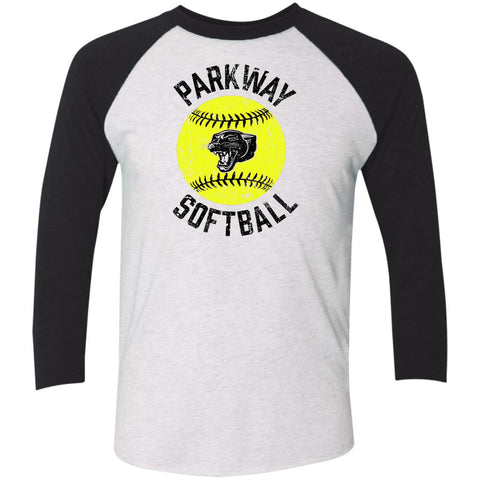 Parkway Softball, Unisex Triblend 3/4 Sleeve T-Shirt