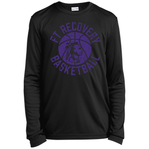 Fort Recovery Basketball, Youth Long Sleeve Moisture-Wicking T-Shirt