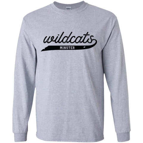 Script Wildcats, Youth Long Sleeve T-Shirt