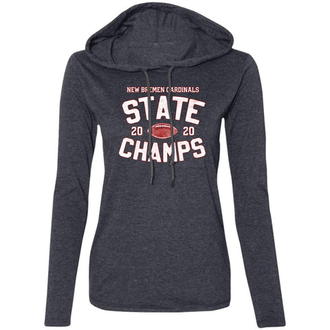 2020 New Bremen Football State Champs, Long Sleeve T-Shirt Hoodie