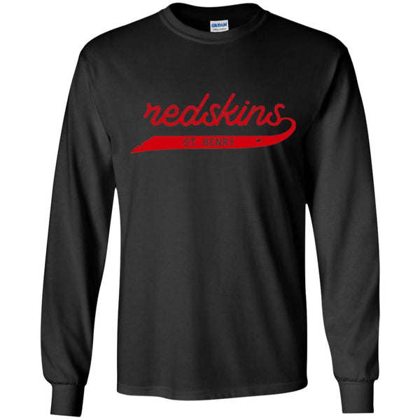 Script Redskins, Youth Long Sleeve T-Shirt