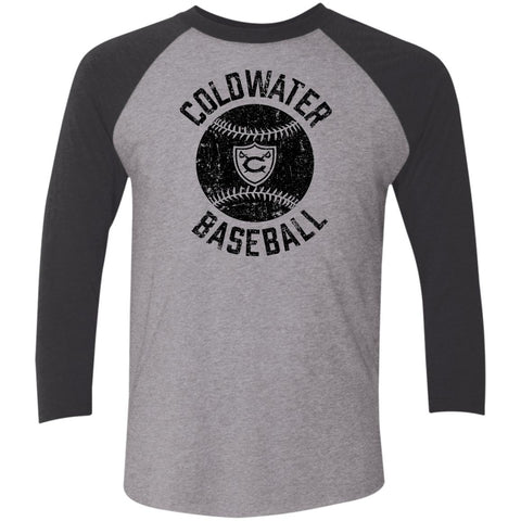 Coldwater Baseball, Unisex Triblend 3/4 Sleeve T-Shirt