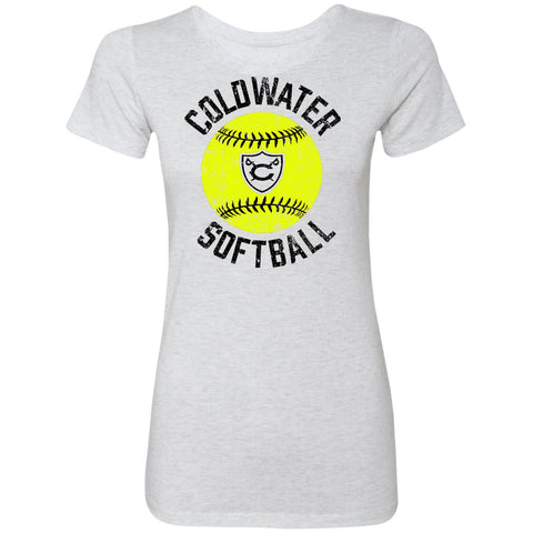 Coldwater Softball, Ladies Triblend T-Shirt