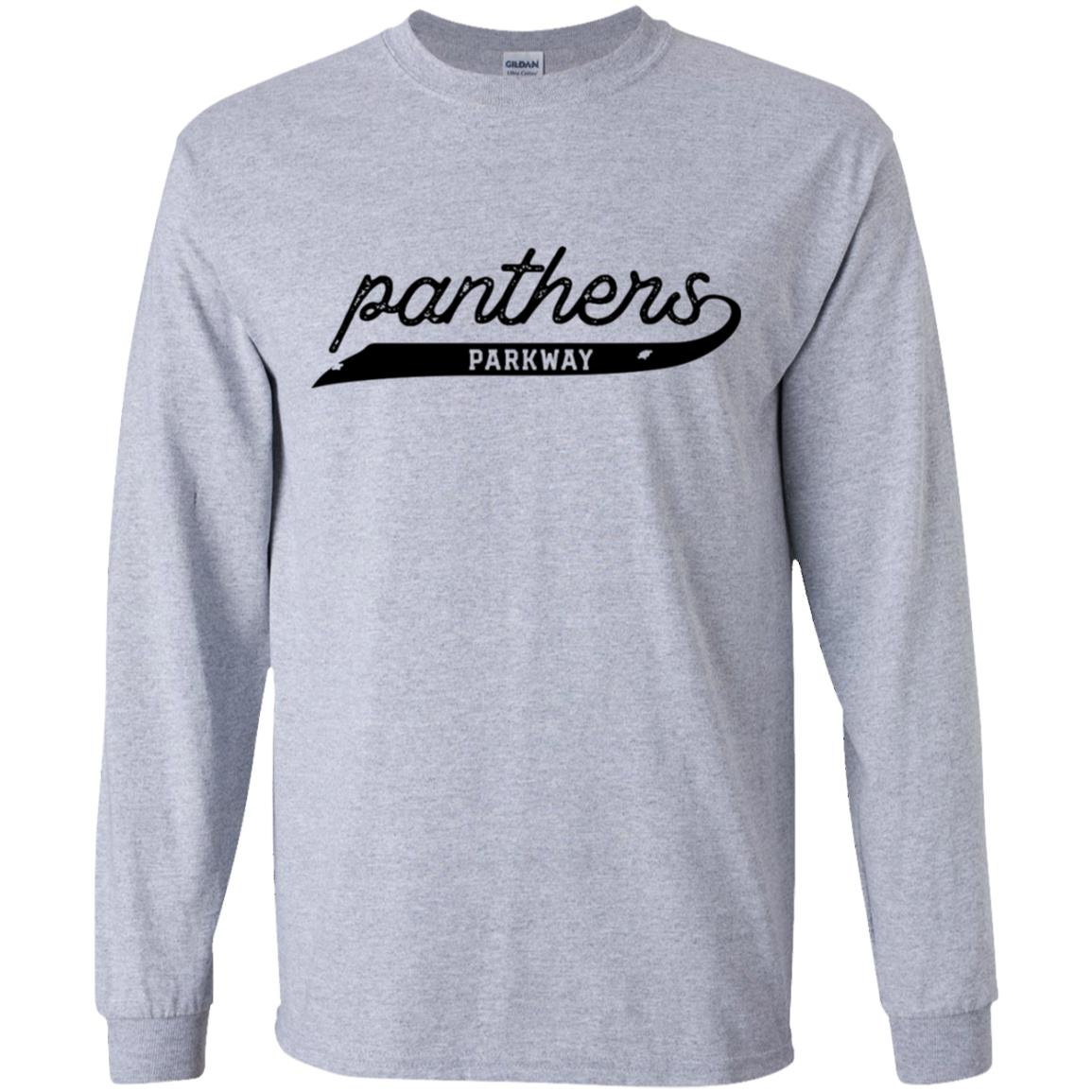 Script Panthers, Youth Long Sleeve T-Shirt