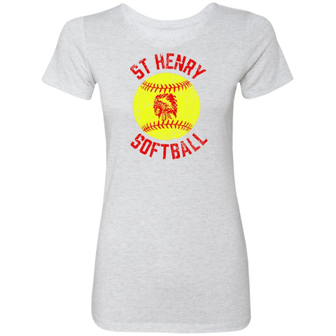 St. Henry Softball, Ladies Triblend T-Shirt