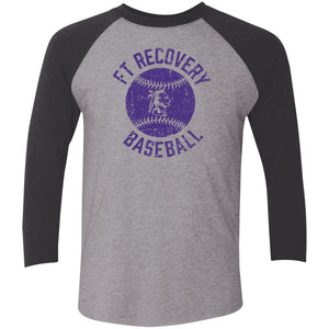 Ft. Recovery Baseball, Unisex Triblend 3/4 Sleeve T-Shirt