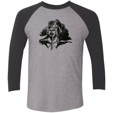 Captain Cavalier, Unisex Triblend 3/4 Sleeve T-Shirt