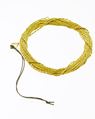 yellow braided tenkara fly line