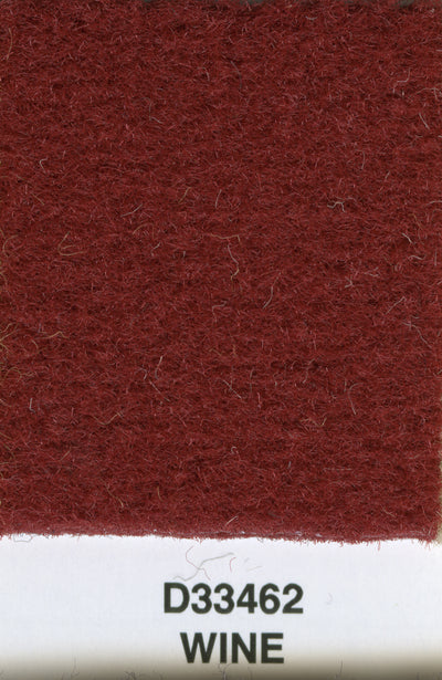 Backless Mercedes Finetuft Velour Carpet Wine