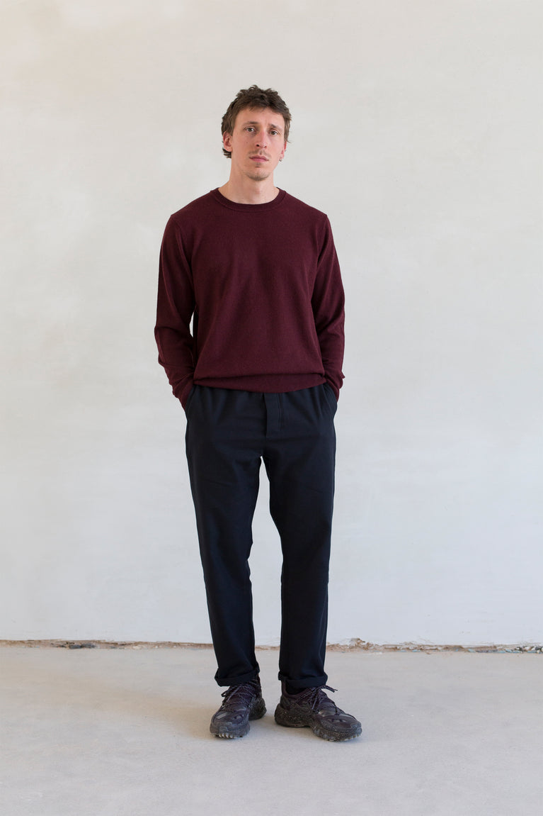 7d collection lookbook fall/winter '20 , 7dcollection , 7d , belgian brand , ikkoopbelgisch , regular fit crewneck sweater in supersoft merino  comfort drawstring pant in cotton wool twill
