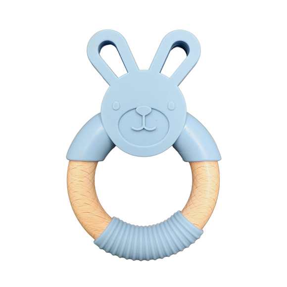 Easter Bunny Teether | Soft Blue