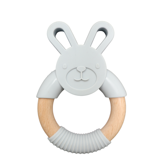 Easter Bunny Teether | Soft Grey