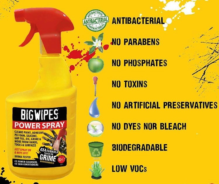 Big Wipes 'Power Spray' 1L Bottle